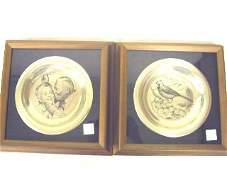 264: Solid Sterling Franklin Mint Cardinal Plate