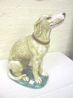"""315: 16-1/4"""" Italian Seated Dog Statue."""