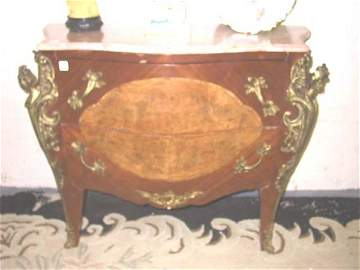 114: Pr. Louis XV Style Marble Top Commodes.