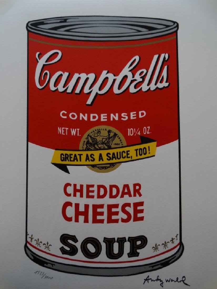 ANDY WARHOL, CAMPBELLS, SIGNED AND HAND NUMBERED