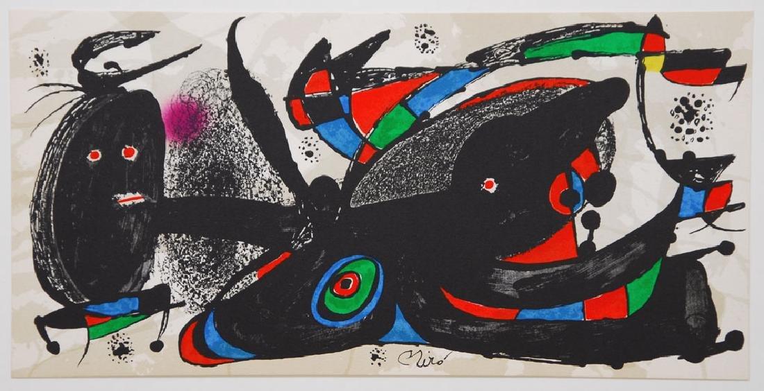 Joan MIRO, lot 7 lithographs, 1975