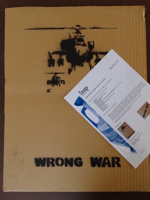 """BANKSY """"ANTI-IRAK WAR PLACARD"""", 2003"""