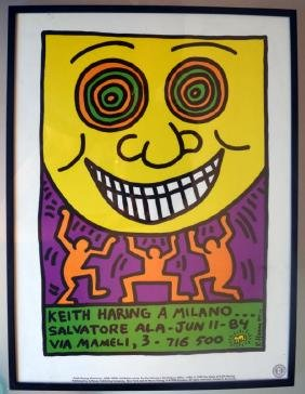 Keith Haring A Milano, Picture . Art Print ,salvatore