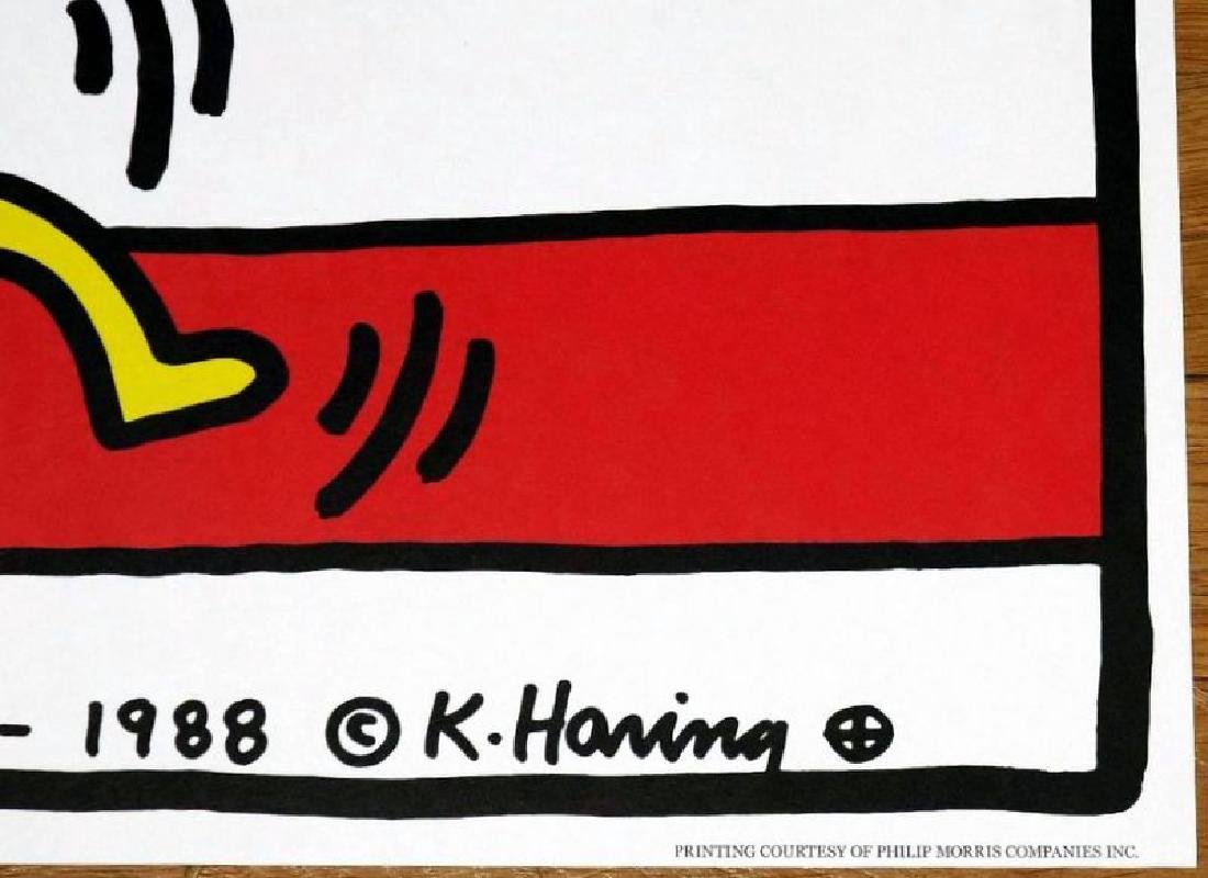 KEITH HARING POSTER,  AMERICAN MUSIC FESTIVAL NEW YORK - 2