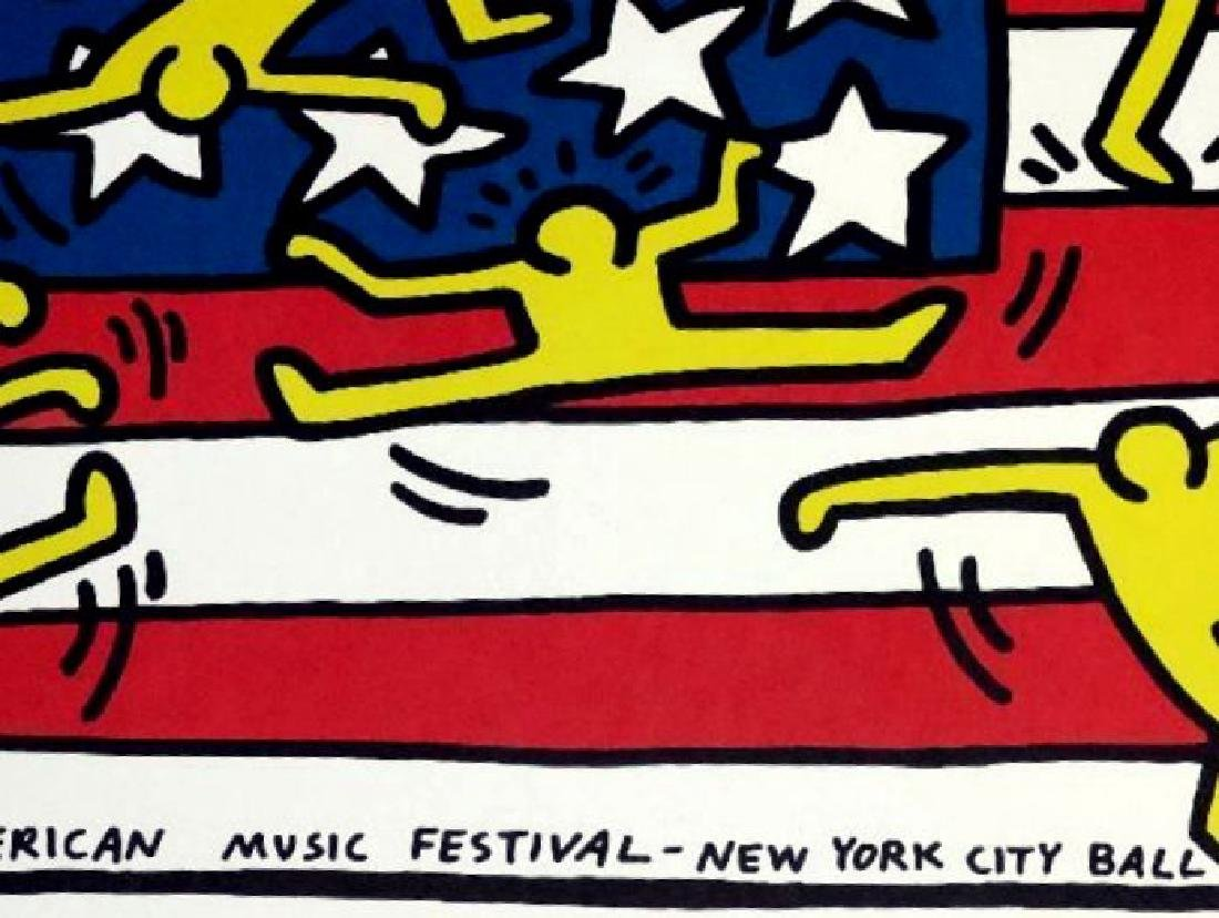 KEITH HARING POSTER,  AMERICAN MUSIC FESTIVAL NEW YORK - 3