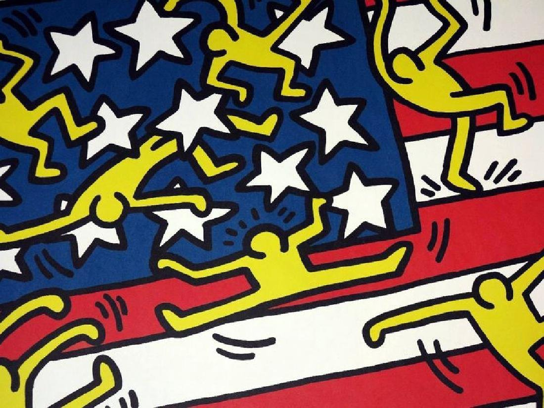 KEITH HARING POSTER,  AMERICAN MUSIC FESTIVAL NEW YORK - 4