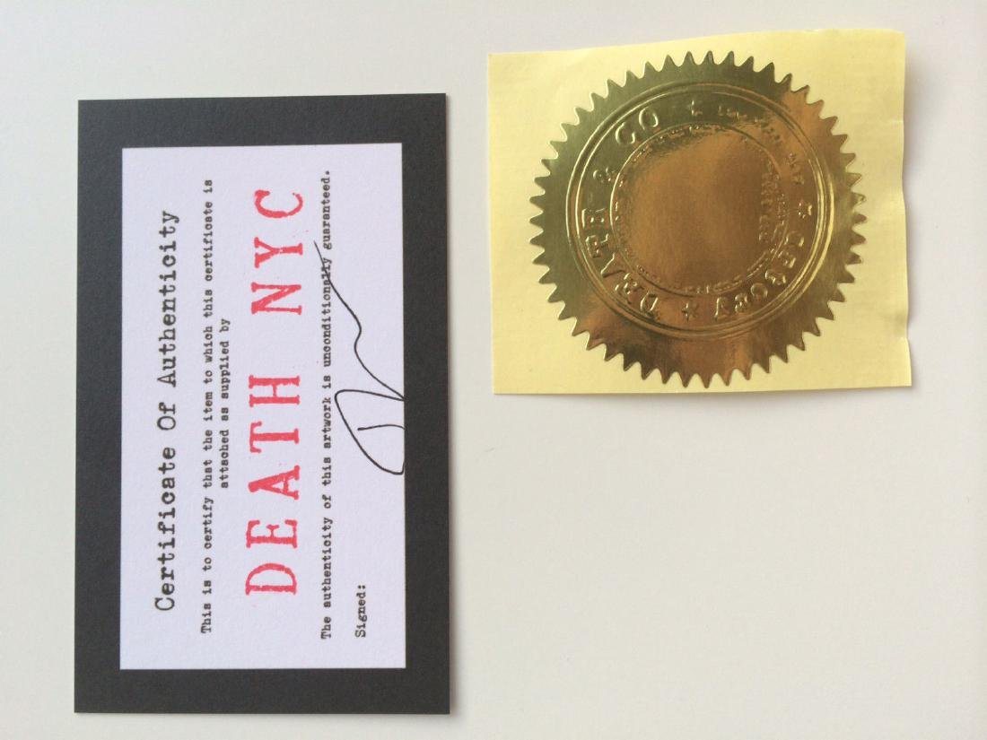 Banksy Dismaland Death NYC Signed Limited Ed Print Stre - 2