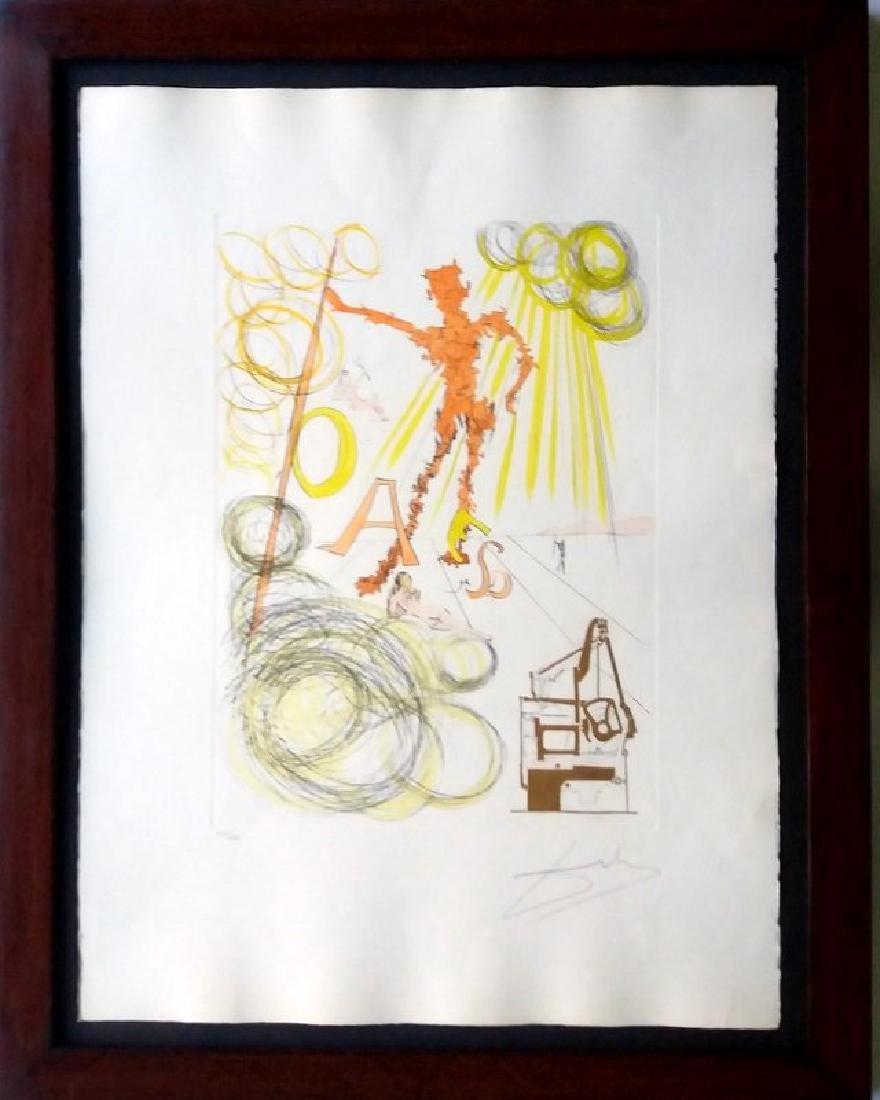 Salvador Dali- Hommage Leonardo da Vinci, etching 1975