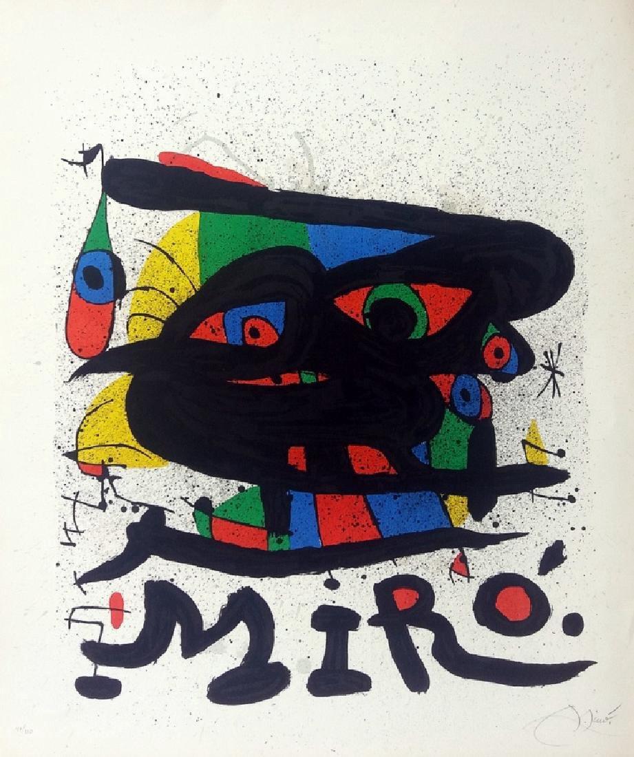 JOAN MIRO, 1971, hand signed