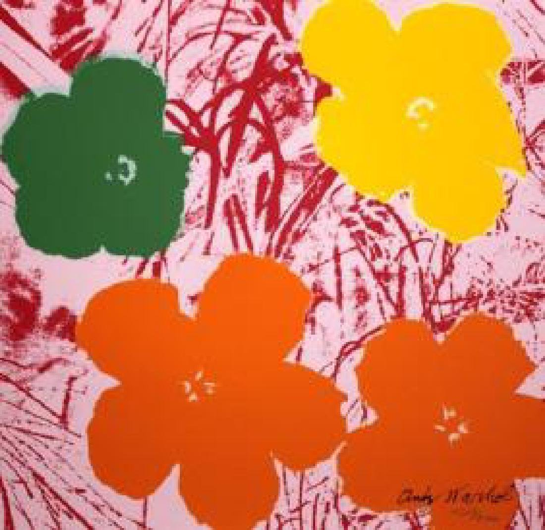 Andy Warhol Poppy Flowers, numbered edition