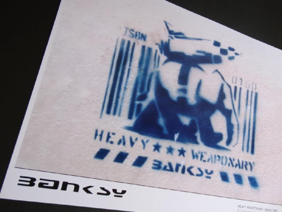Bristol Photography x Banksy -Heavy Weaponary- numbered