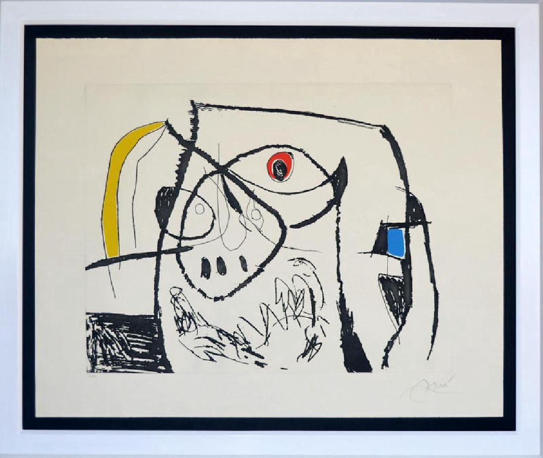 Joan Miro, etching, 1973, hand signed