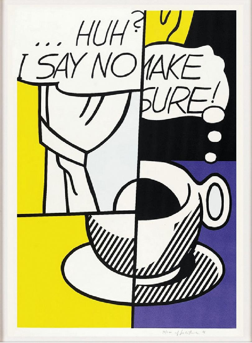 Roy Lichtenstein , Huh, Screenprint, hand signed