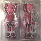 Kaws Blush Open Edition  Flayed Set In Original Pack