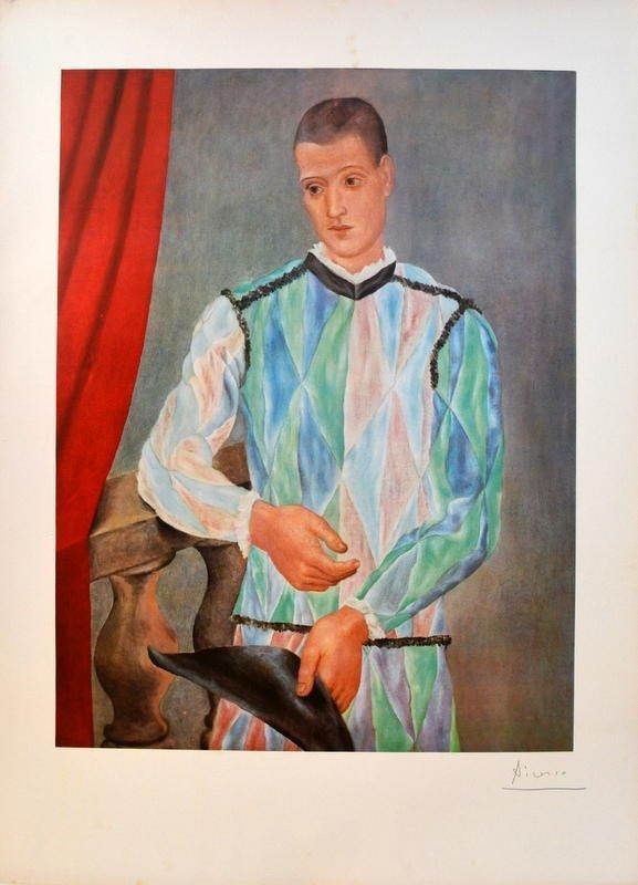 Pablo Picasso- Arlequin