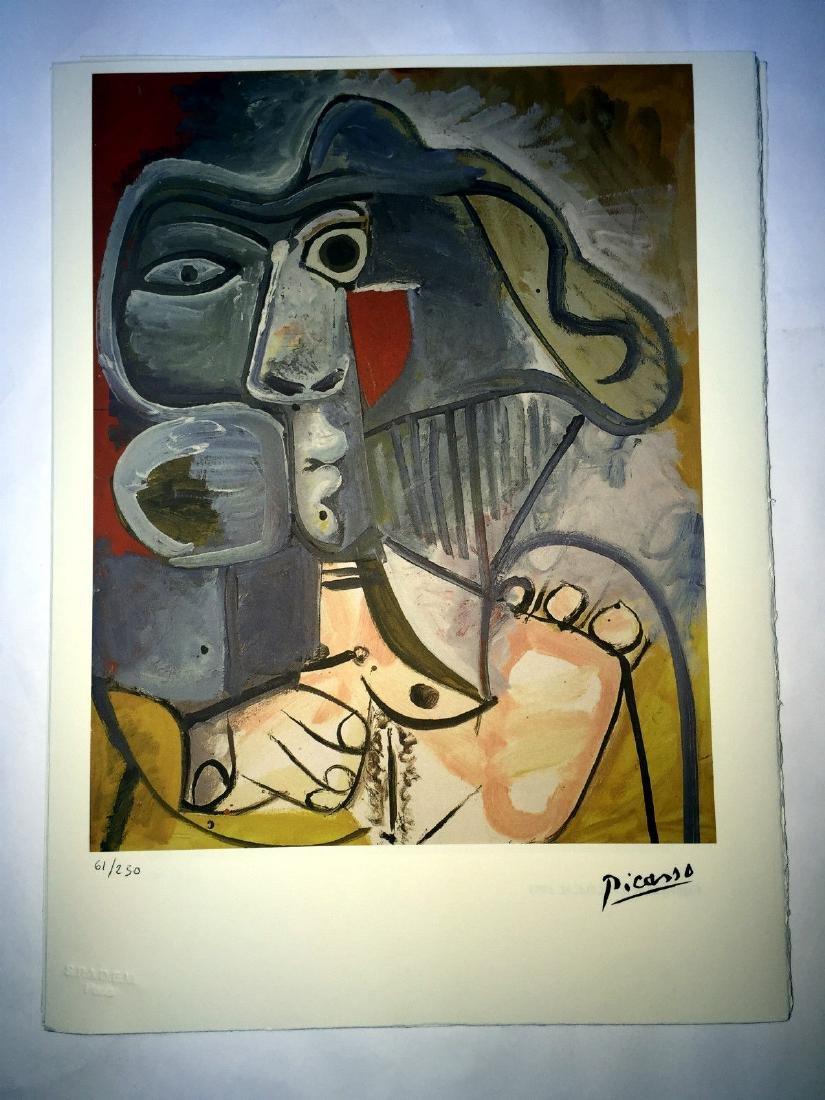 Picasso Pablo lithograph 38.5 x 28.5 cm, signature