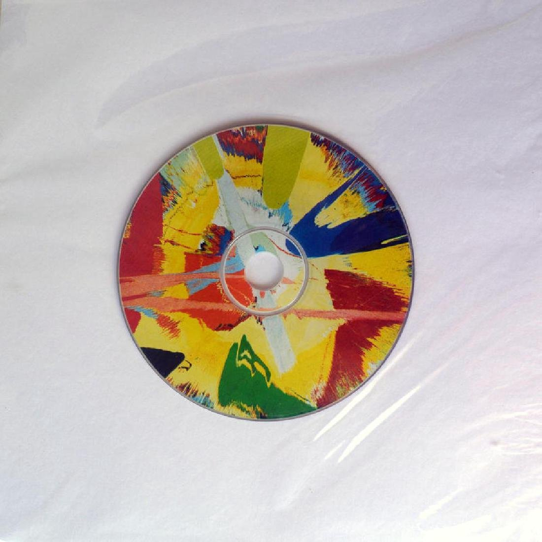 Damien HIrst Ltd ed Spin Painting CD RARE. COA - 2