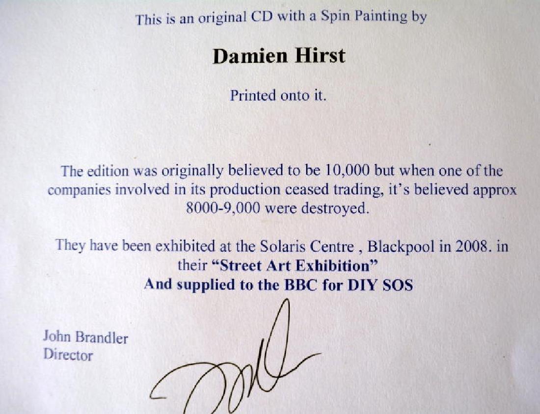 Damien HIrst Ltd ed Spin Painting CD RARE. COA - 6