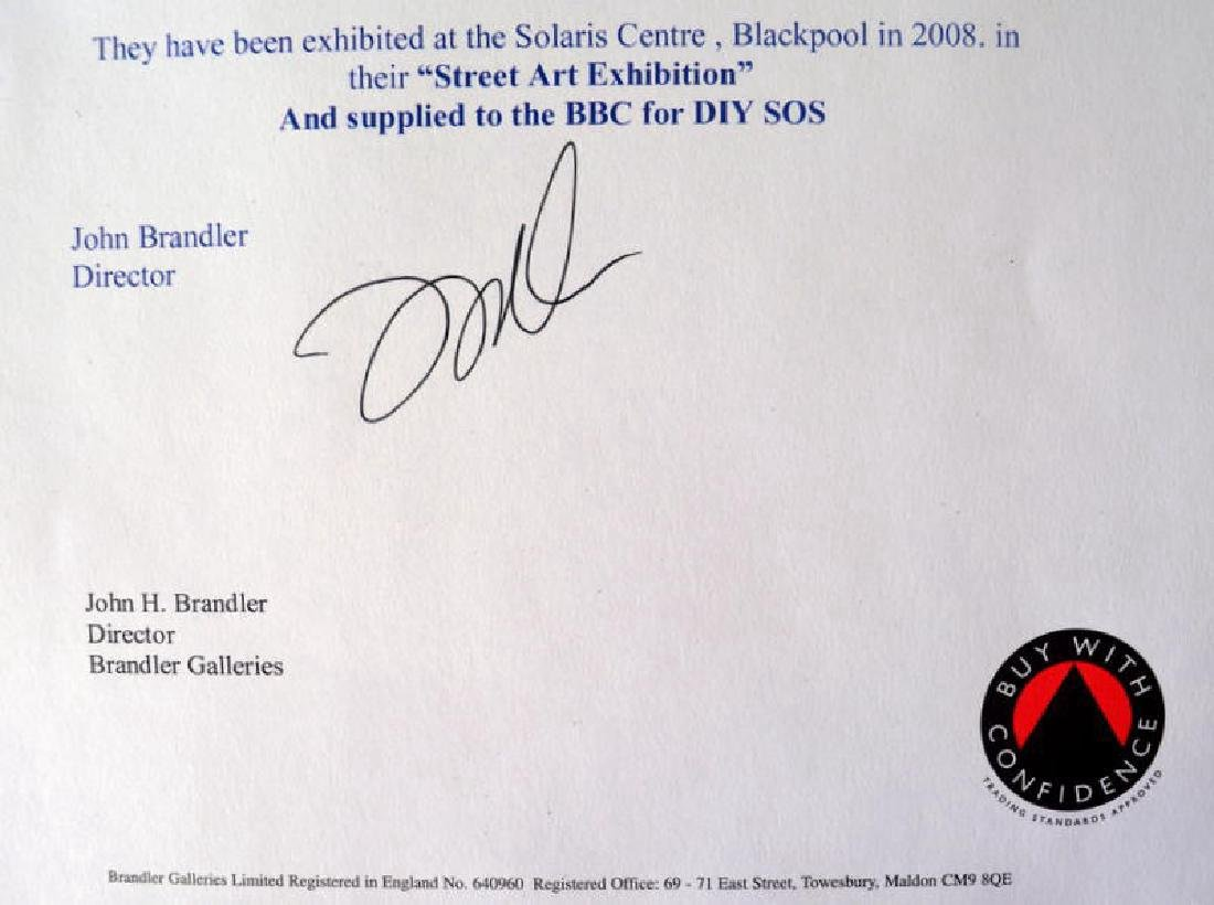 Damien HIrst Ltd ed Spin Painting CD RARE. COA - 7