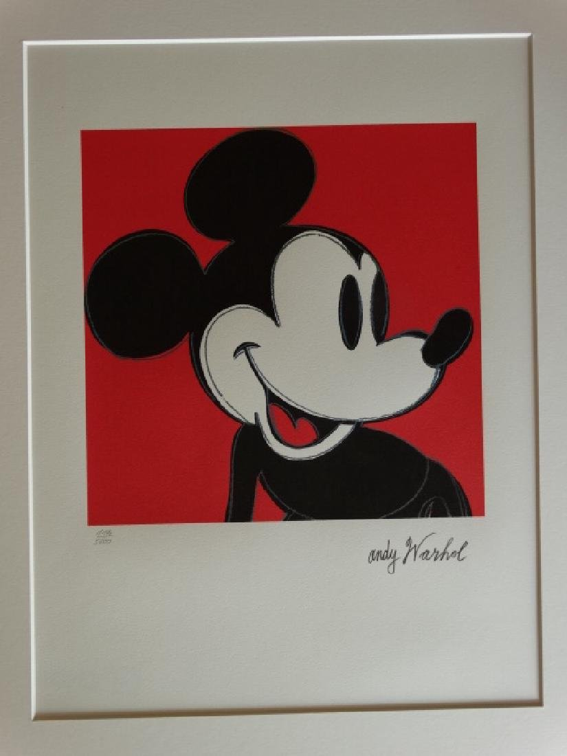 ANDY WARHOL, MICKEY MOUSE - 2