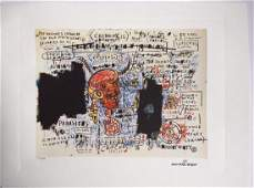 Jean-Michel Basquiat - Signed lithograph, Comes with