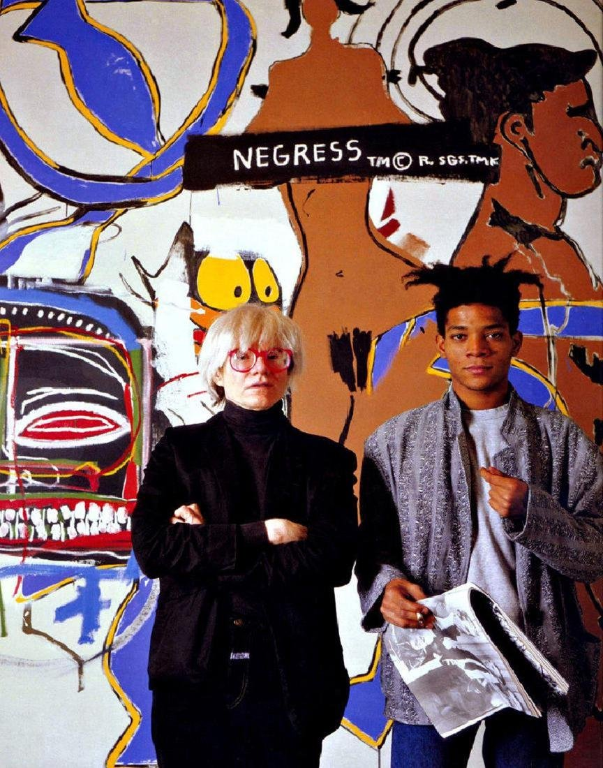 Andy Warhol & Basquiat Print 11 x 14