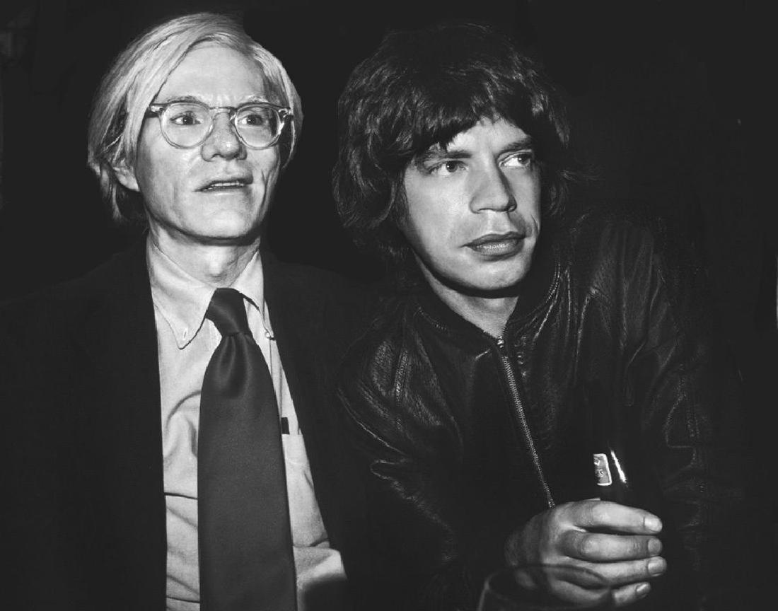Andy Warhol & Mick Jagger Print 11 x 14