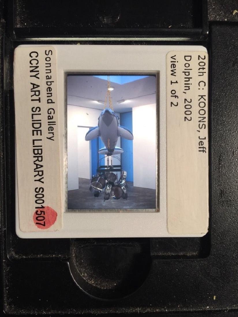 "Jeff Koons ""Dolphin I"" 35mm Neo-Pop Art Slide"