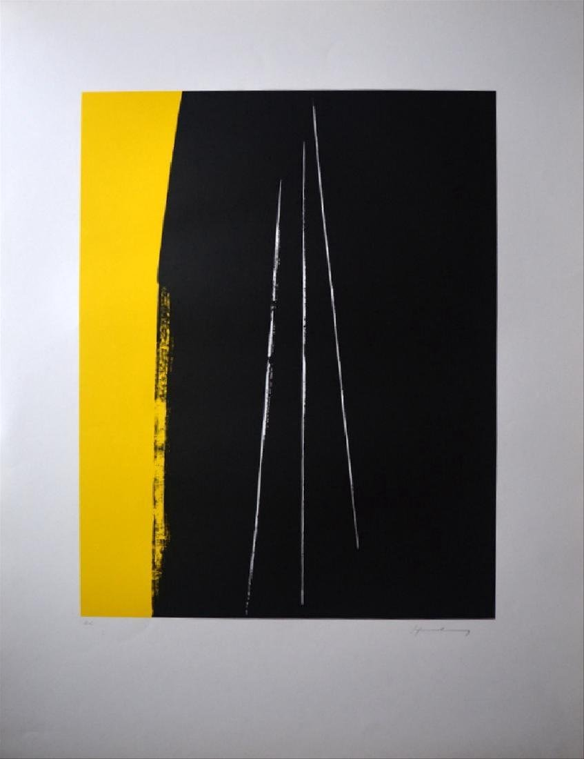 Hans Hartung, Lithograph on paper signed by the artist.