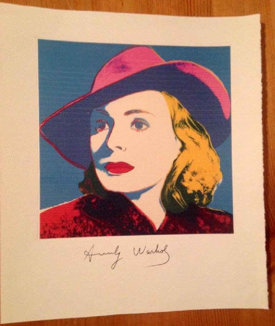 ANDY WARHOL, nice Print Hand Signed in Pen