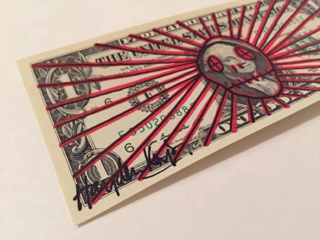 Hayden Kays Signed original unique Skull painted Dollar - 2