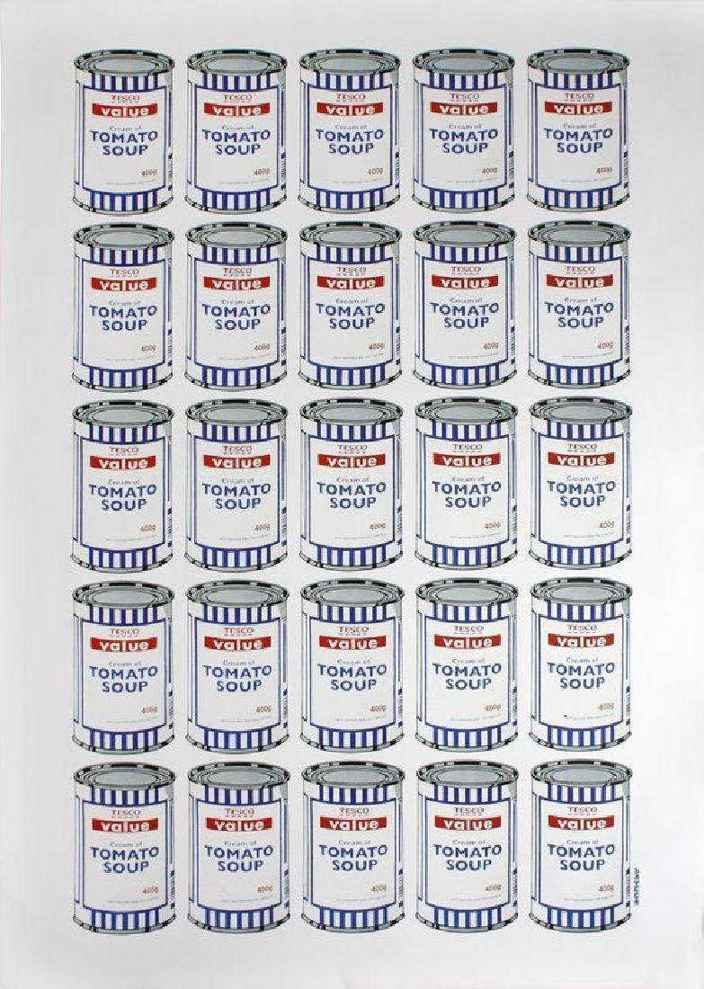 Banksy Soup cans POW Lithograph Poster Plate Signed