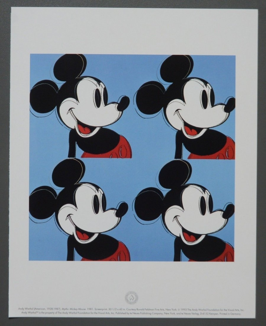 Andy Warhol Foundation Limited Ed. Offset Lithography