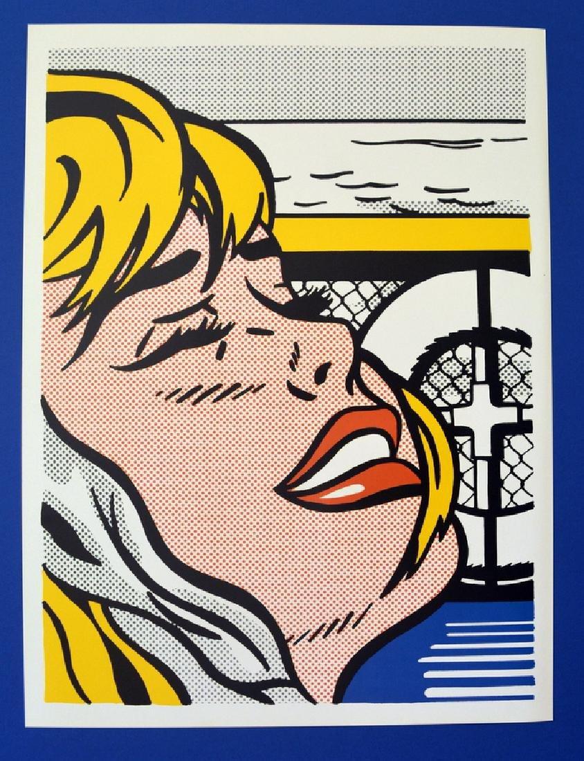"""ROY LICHTENSTEIN POSTER """" SHIPBOARD GIRL """" COMIC POP"""
