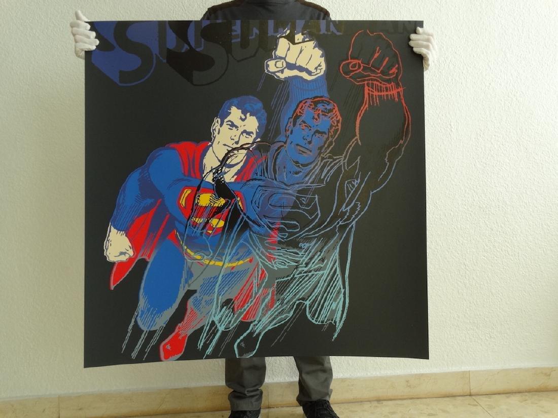 "Andy Warhol ""Superman"" Silkscreen, diamond dust - 10"