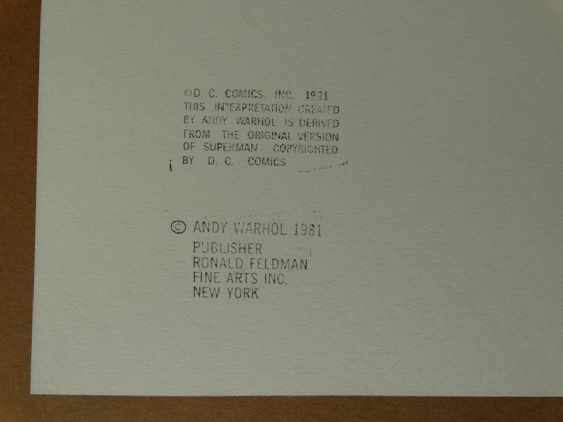 "Andy Warhol ""Superman"" Silkscreen, diamond dust - 4"
