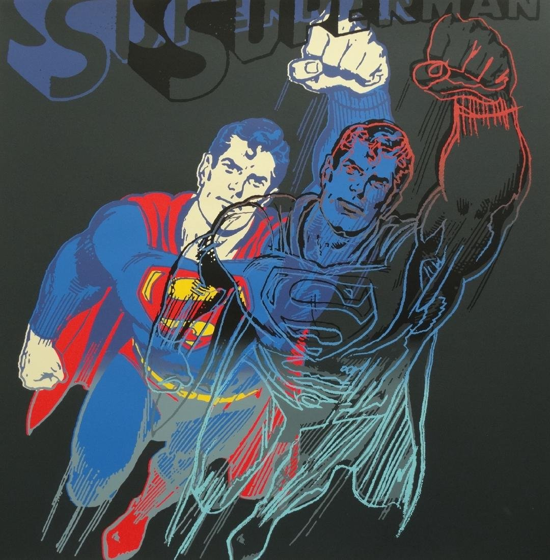 "Andy Warhol ""Superman"" Silkscreen, diamond dust - 5"
