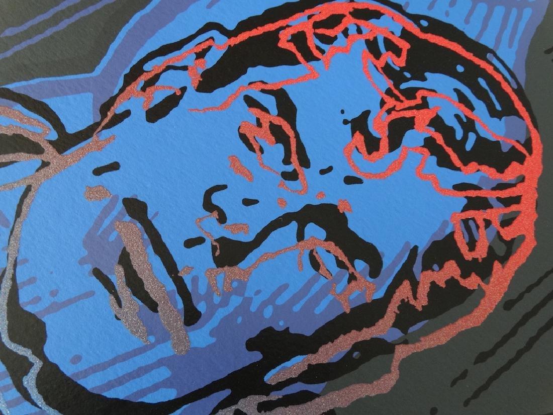 "Andy Warhol ""Superman"" Silkscreen, diamond dust - 7"