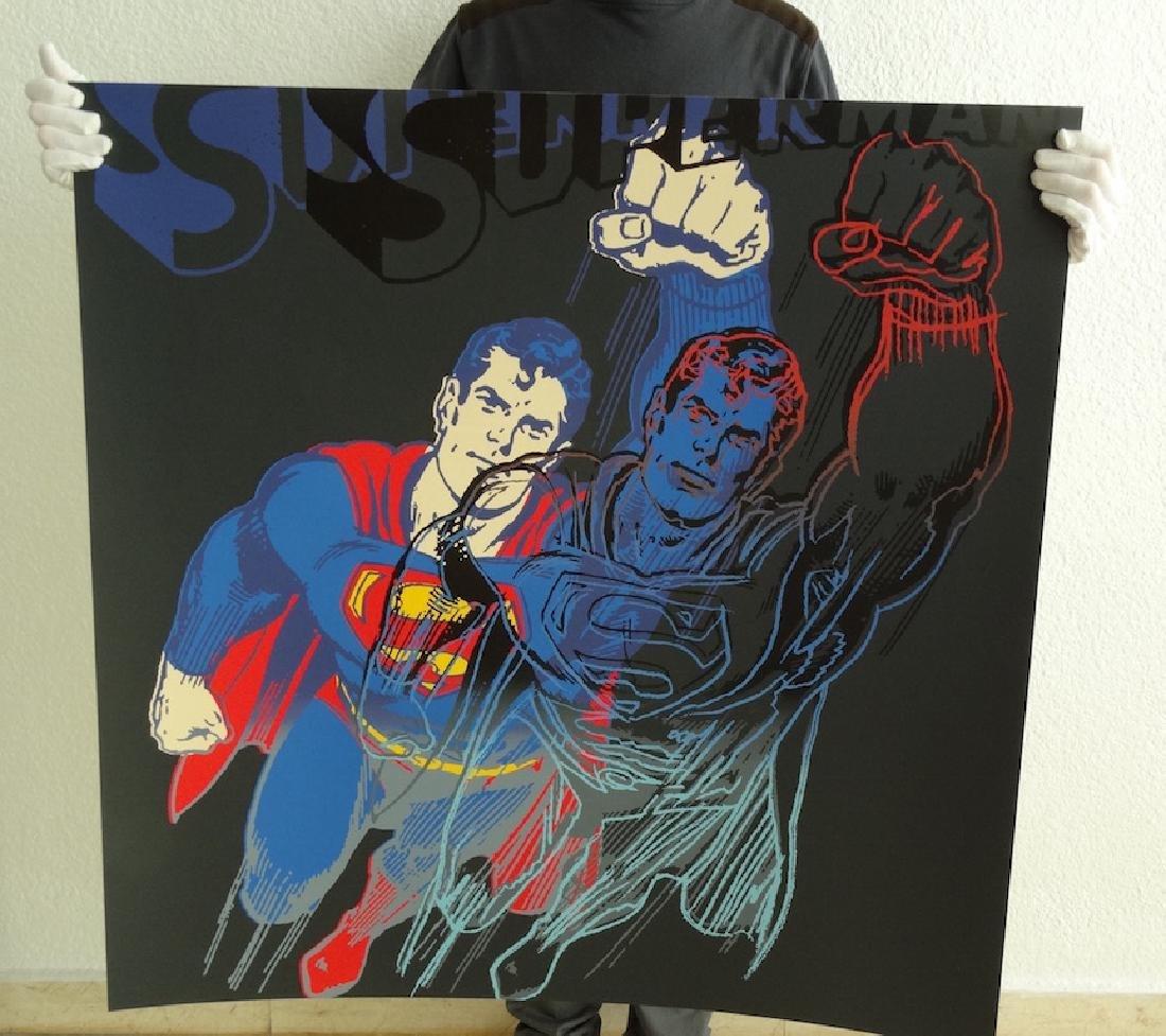 "Andy Warhol ""Superman"" Silkscreen, diamond dust - 8"