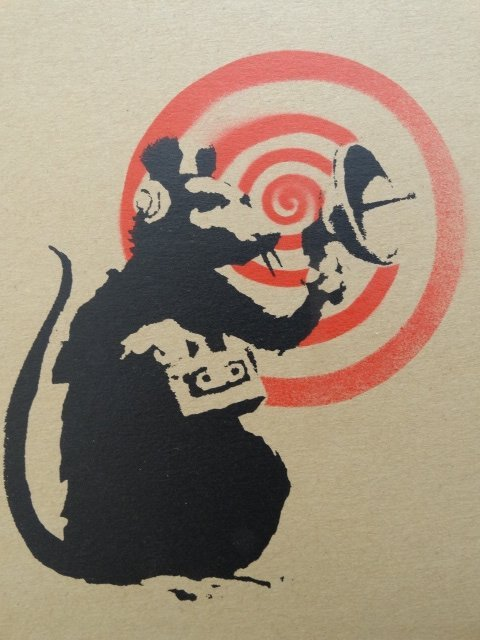 Banksy, Radar Rat, Screenprint on Record Jacket