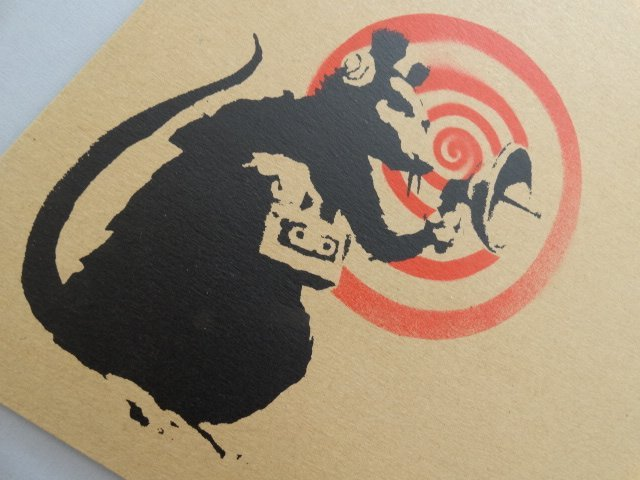 Banksy, Radar Rat, Screenprint on Record Jacket - 3