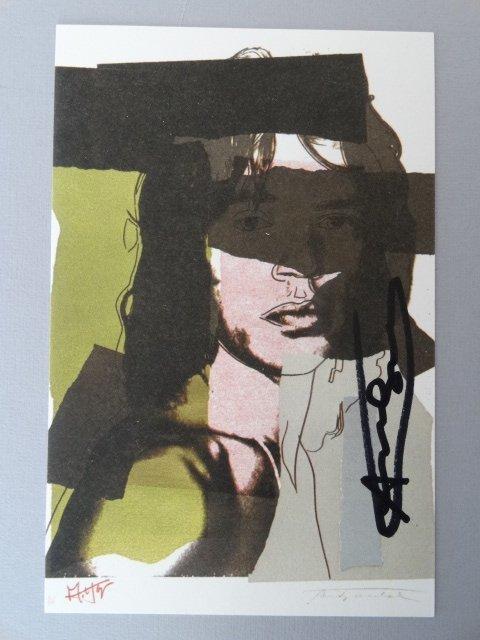 Andy Warhol hand signed-  Mick Jagger