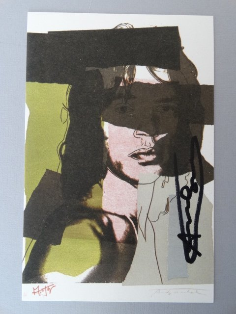 Andy Warhol hand signed-  Mick Jagger