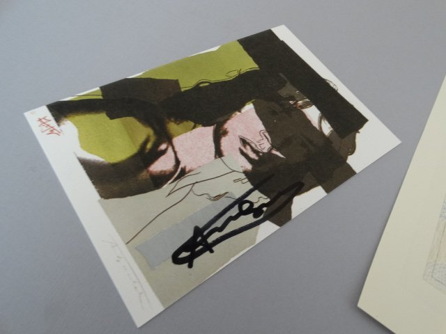 Andy Warhol hand signed-  Mick Jagger - 5