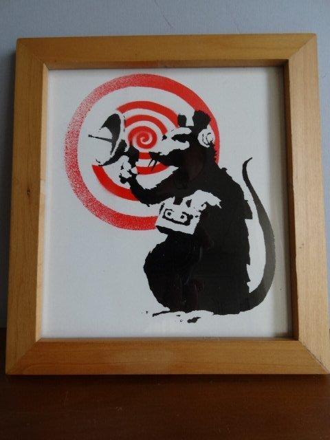 Banksy, Radar Rat, Screenprint on Record Jacket
