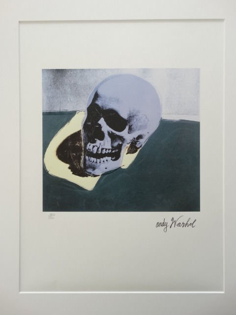 ANDY WARHOL SKULL SIGNED + HAND NUMBERED