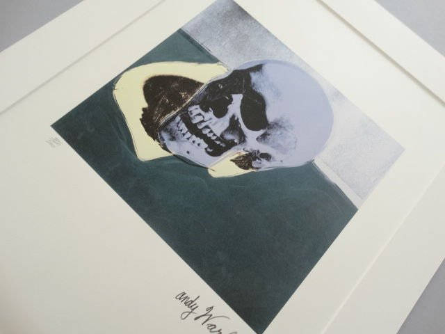 ANDY WARHOL SKULL SIGNED + HAND NUMBERED - 3