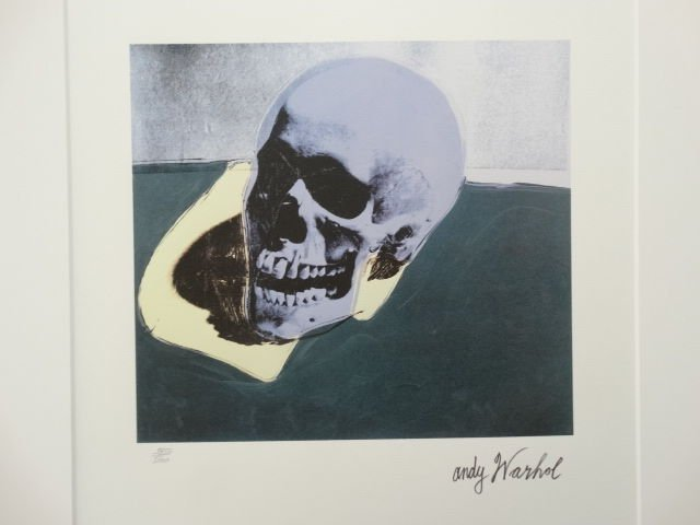ANDY WARHOL SKULL SIGNED + HAND NUMBERED - 5