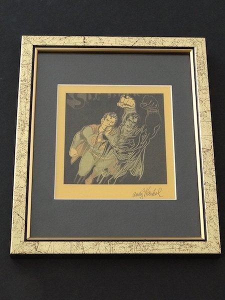 Andy Warhol. gold superman