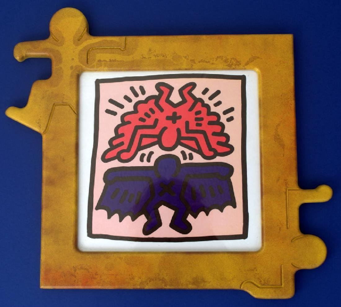 Keith Haring imagen art print AND FRAMED